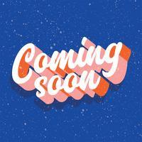 Binnenkort typografie vectorontwerp