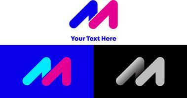 Conceito moderno do logotipo do inclinação M