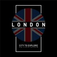 Vector illustration on the theme of LONDON. Typography, t-shirt graphics