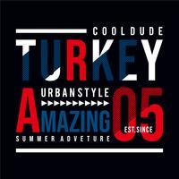 Vectorillustratie op het thema van Turkije. Typografie, t-shirtafbeeldingen
