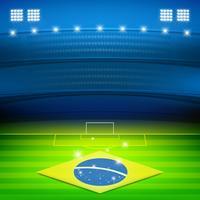 fundo do estádio de futebol do brasil