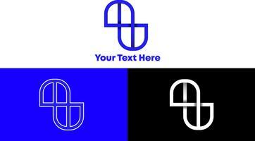 Concept de logo monogramme simple et moderne