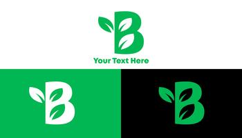 B Green Modern Logo Concept for Healthy Company