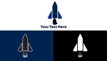 Rocket Logo Concept Minimalistisch en modern