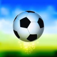 Pelota de futbol en el aire