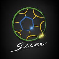 soccer ball drawing on a blackboard vector