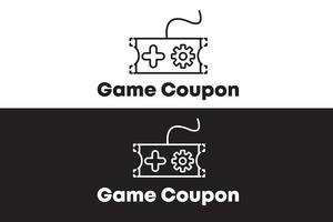 Gioco Coupon Logo Concept Minimalista