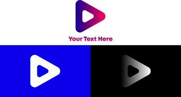 Triângulo Moderno e Minimalista Logo Concept para qualquer empresa ou Individu