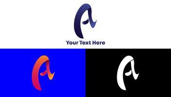 Um conceito de logotipo gradiente e moderno