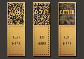 Bookmark wording set vector