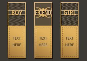 Textvorlage für Lesezeichen