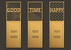 Bookmark wording template vector