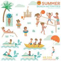 Infographie des activités de plage.