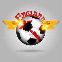 Bola de futebol da inglaterra vetor