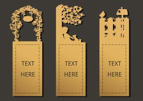 Bookmark garden template vector