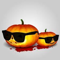 Lunettes de soleil jumelles Halloween tête de citrouille