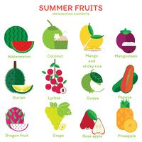 Summer Fruits elements