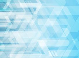 Setas corporativas geométricas abstratas tecnologia sobre fundo azul.