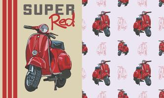 Scooter seamless pattern