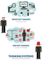 Thinking man infographic vector