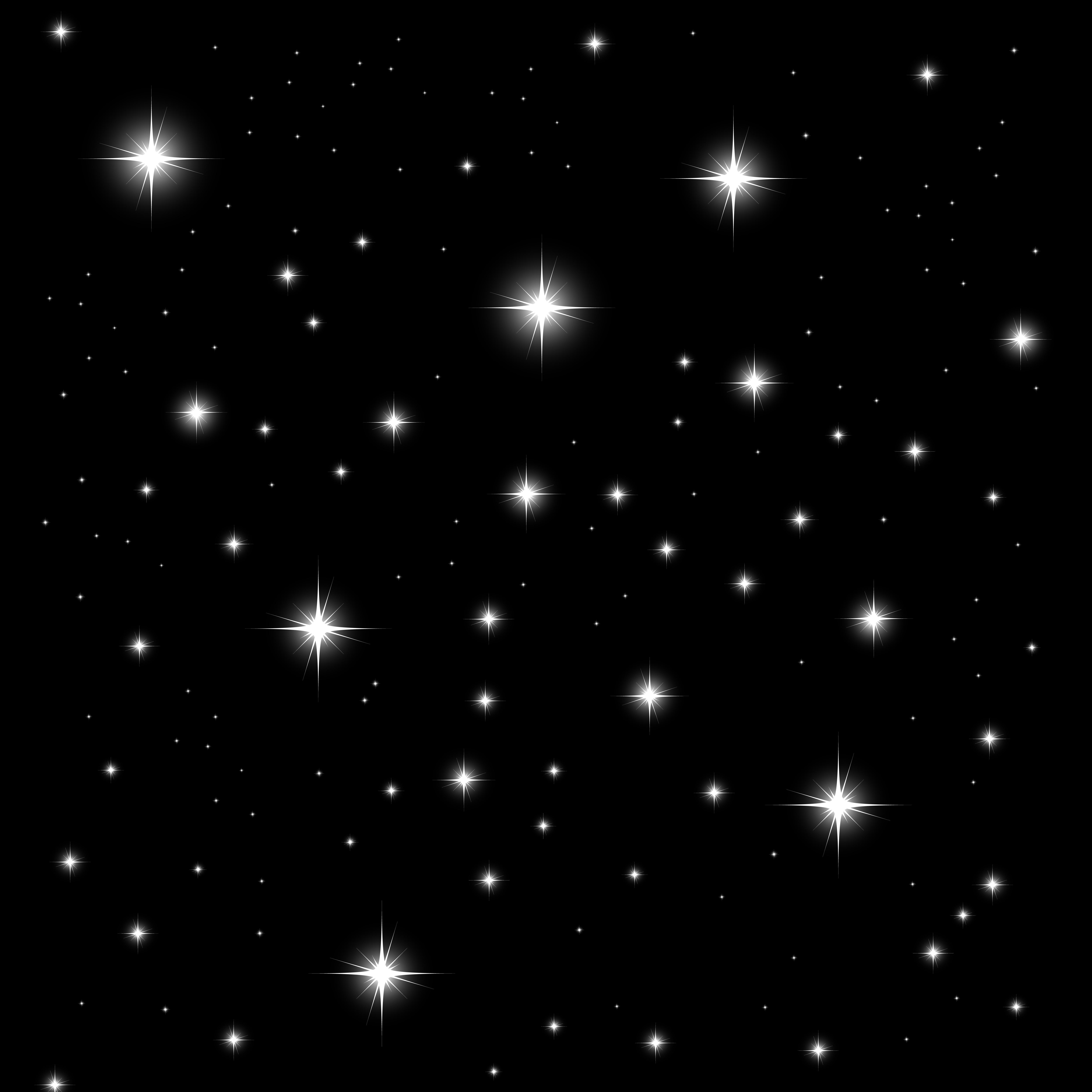 Starlight On Black Background