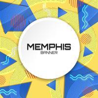 Plantilla de fondo de Memphis