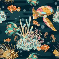 Aquário subaquática sem costura