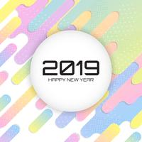 2019 New Year vector