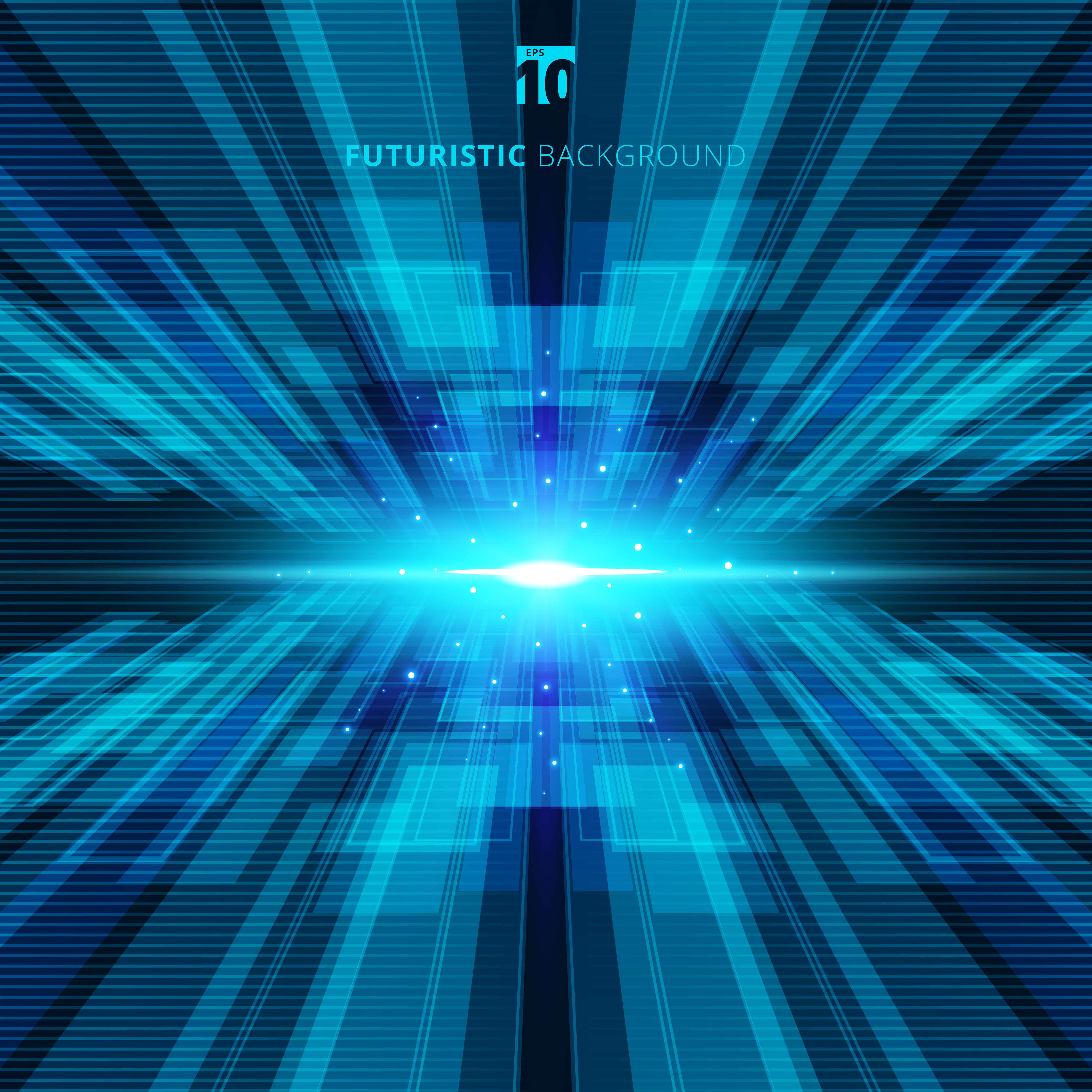 Abstract blue virtual technology concept futuristic digital