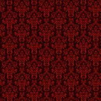 sfondo ornamentale di lusso. Motivo floreale rosso damascato. Carta da parati reale