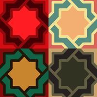 motif décoratif couleur différente option.vector illustration