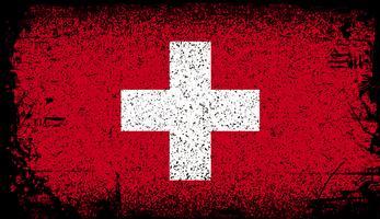 Bandeira do grunge de Suíça. ilustração de fundo vector