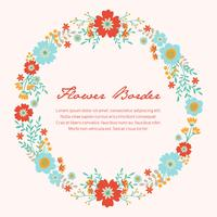 Spring Flower / Floral Border / Wreath Background Printed Template - Vector Illustration