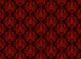 seamless luxury ornamental background. Red Damask seamless floral pattern. Royal wallpaper. vector