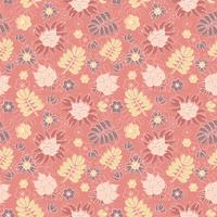 Vector seamless pattern with romantic floral background. Subtle