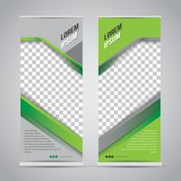 Green Black Roll Up Banner Template Mock Up