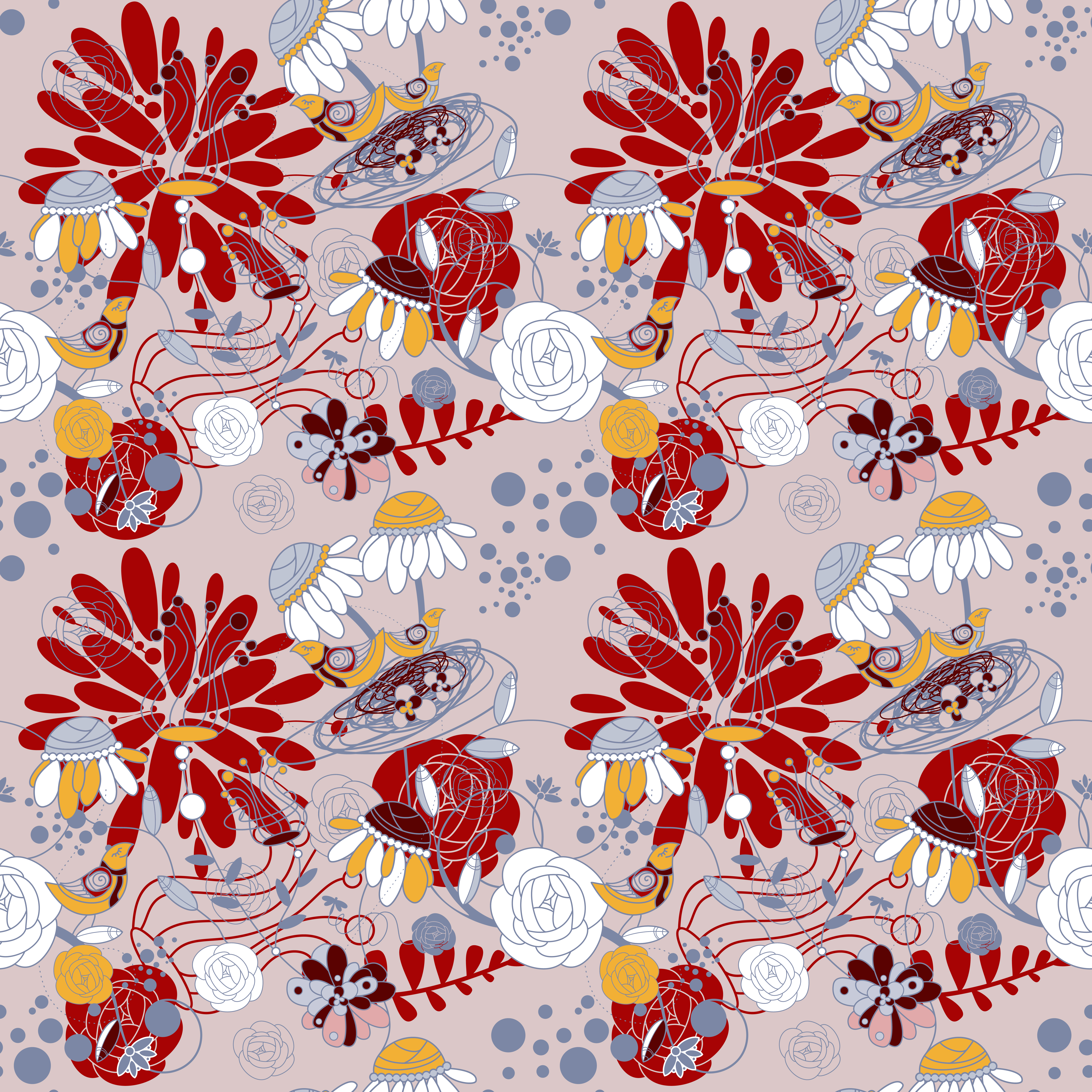 Beauty Floral Patterns Background On Brown Color Vector