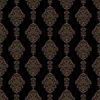 sfondo ornamentale di lusso. Motivo floreale damascato oro. Carta da parati reale