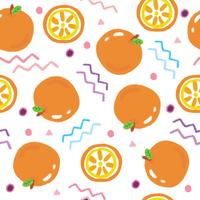 Cute oranges seamless pattern vector. vector