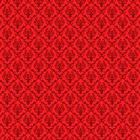 sömlös lyxig prydnadsbakgrund. Röd damast sömlösa blommönster. Kunglig tapeter.
