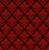 Fondo ornamental de lujo transparente. Damasco rojo patrón floral sin fisuras. Papel tapiz real.
