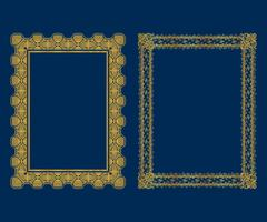 Set of luxury Decorative vintage frames and borders set,Gold photo frame Vector design decoration pattern style.