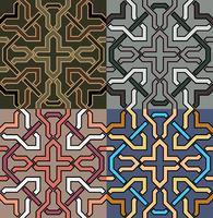 patrón decorativo Ilustración de diferentes colores option.vector