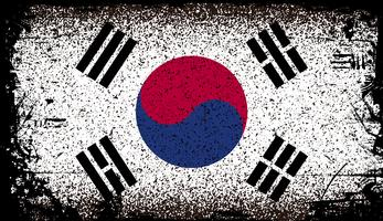 south korea Grunge flag. vector Background Illustration