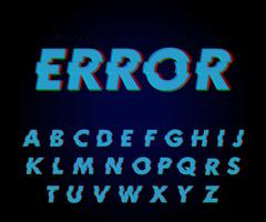 Glitch-lettertype-effect