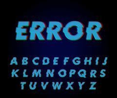 Effetto font glitch