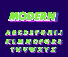 Modernt alfabetstil