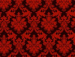 luxury ornamental background. Red Damask floral pattern. Royal wallpaper. vector