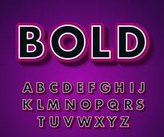 Pop-art lettertype