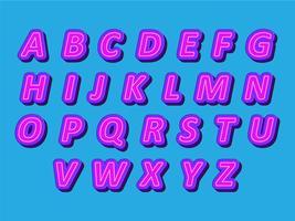 Modern alphabet style